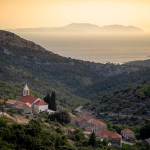 The small community of Vrisnik - nestled in the hills of the Croatian island, Hvar.