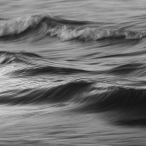 The ocean's movement - textures resembling charcoal sketches