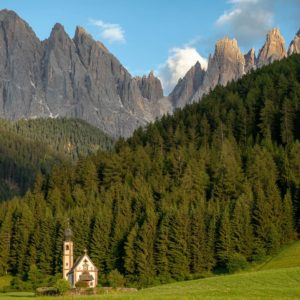 Chiesetta di San Giovanni in Ranui - a small church in the Dolomites.
