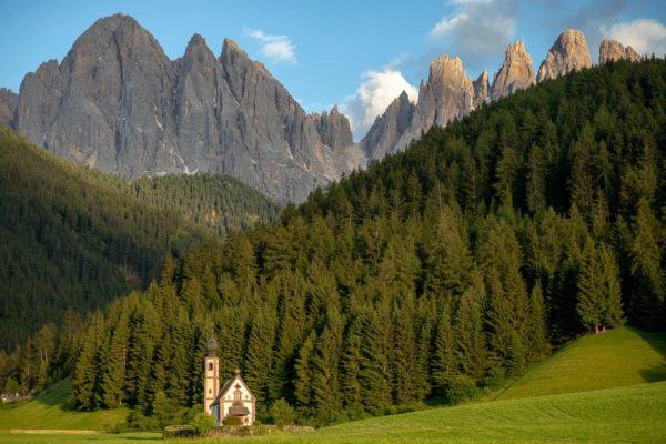 Chiesetta di San Giovanni in Ranui - a small church in the Dolomites.