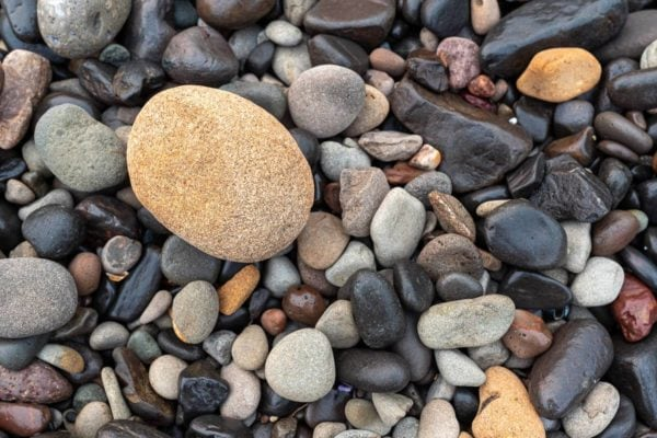 An abstract photo of pebbles.