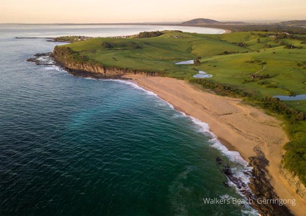 2021 calendar aerial drone photo of Walkers Beach