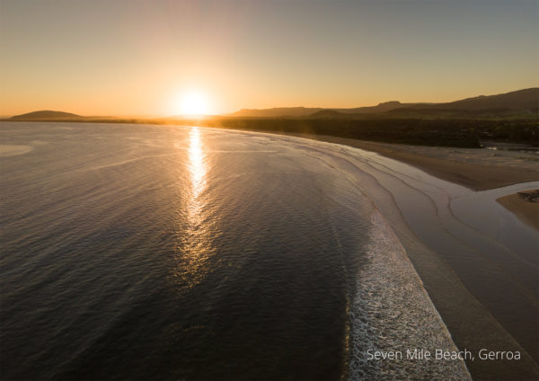 2021 calendar aerial drone photo of Seven Mile Beach