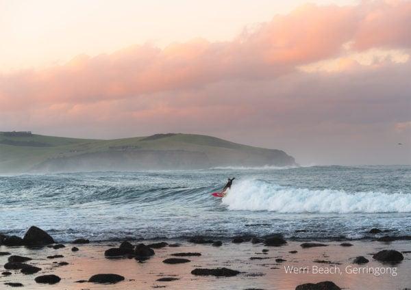 2021 calendar surfer at Werri Beach