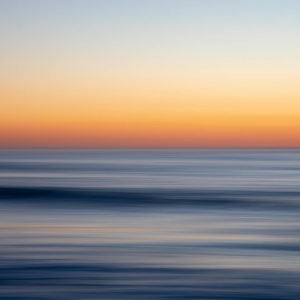 An abstract photo of the ocean which resembles brushstrokes