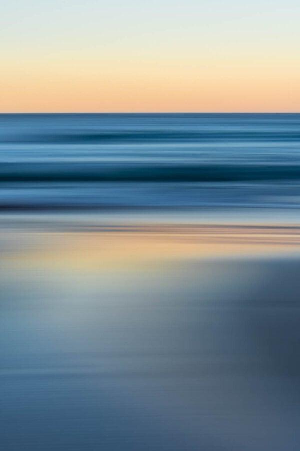 Bluestrokes - Cool ocean tones contrast with the peachy pre-dawn glow. South Coast, Australia