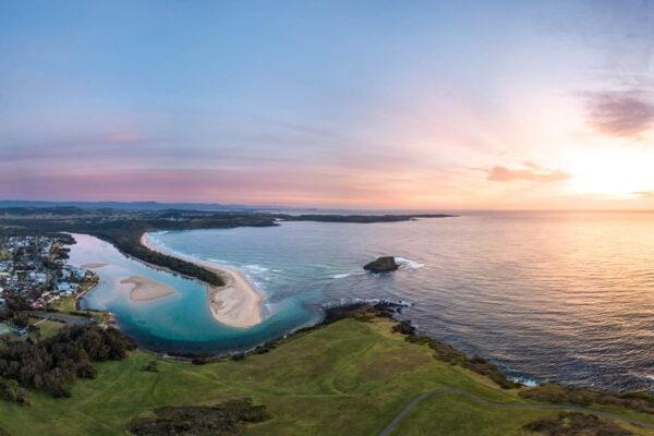 Minnamurra headland sunrise