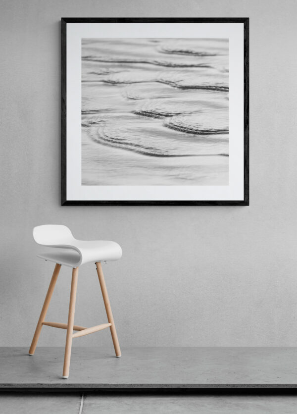 Ripples on the water. Framed in black