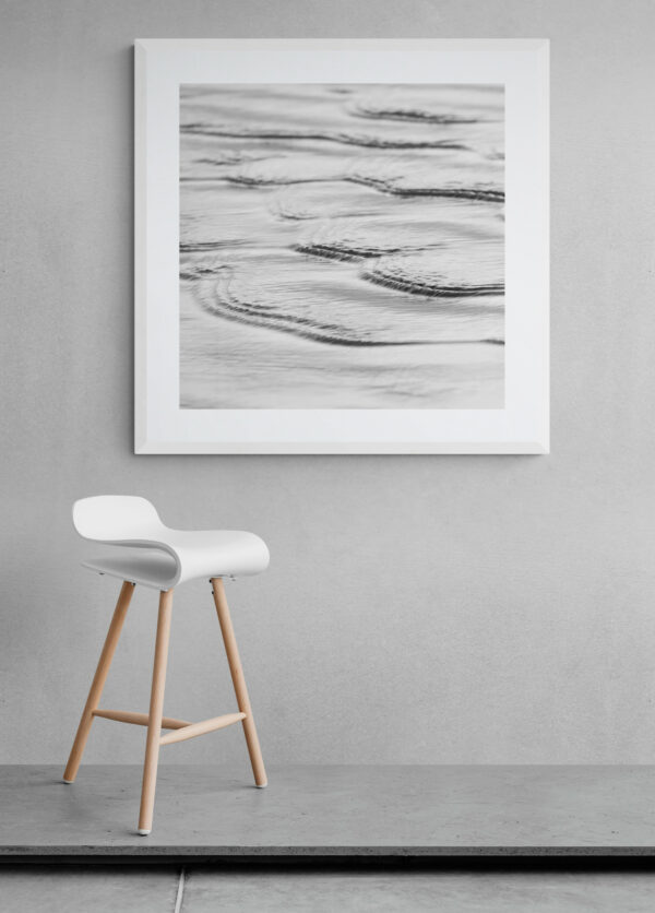 Ripples on the water. Framed in white