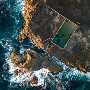 Aerial view of Werri Rockpool